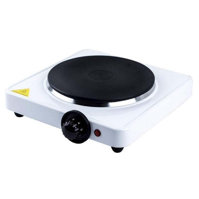 Single Stainless Steel Hot Plate - White