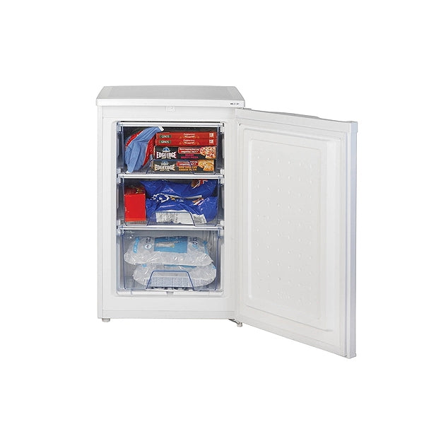 55cm Wide Freestanding Upright Under Counter Freezer - White