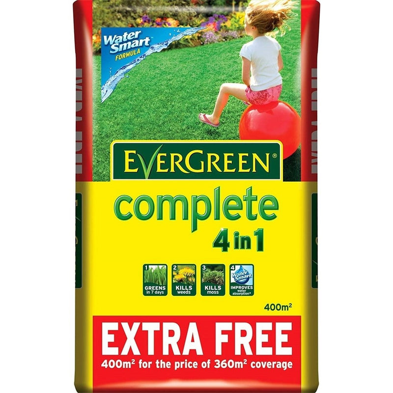EverGreen Complete 360m? + 10% Extra Free Lawn Food, Weed and Moss Killer