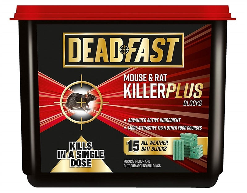 Mouse and Rat Killer Plus Poison, 8 Sachets