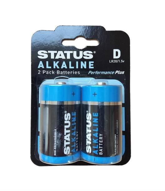 D Cell Alkaline Batteries - 2 Pack