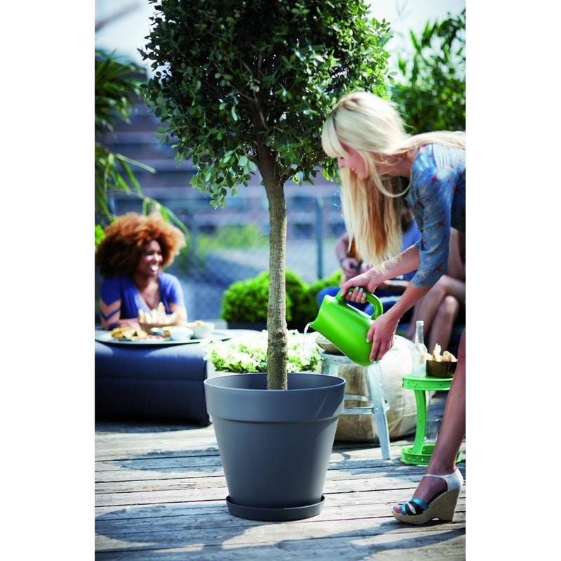 Loft urban round wheels 40cm Plantpot - Anthracite