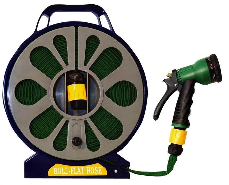 15m Flat Hose with Spray Nozzle