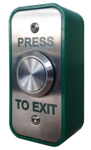 Emergency Stainless Steel Press To Exit Button - Architrave