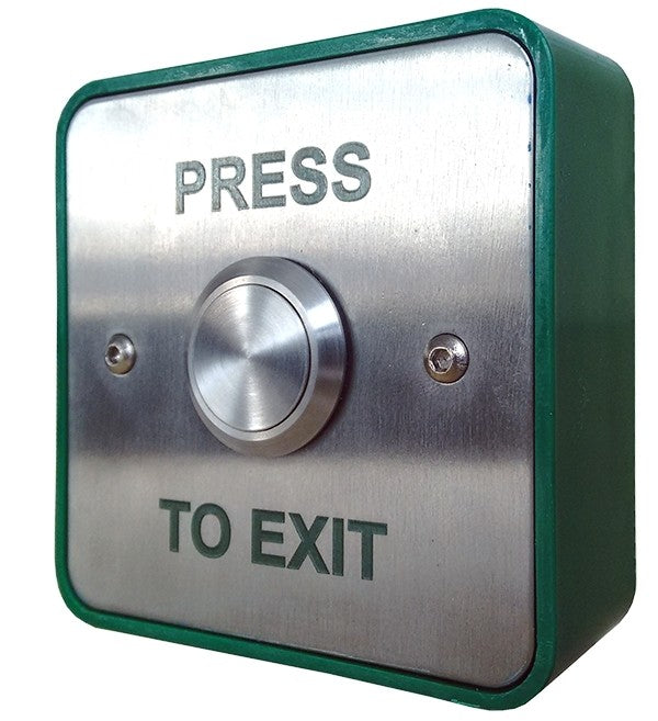 Large Stainless Steel Press to Exit Button