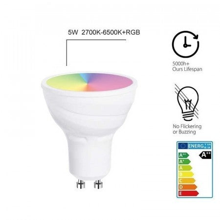 WiFi Smart 5W LED GU10 Bulb