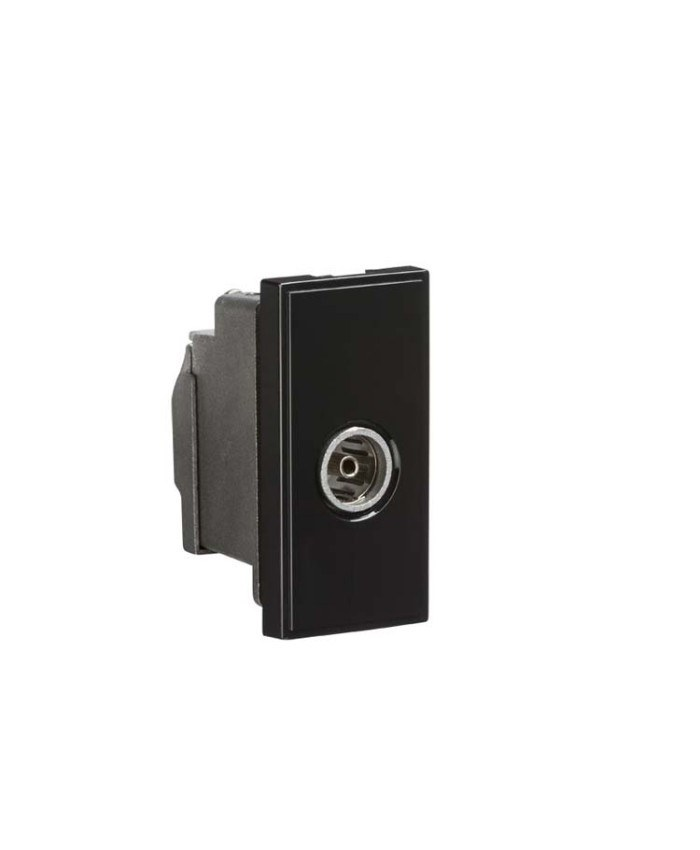 TV/FM Female Co-Axial Socket Module - Black
