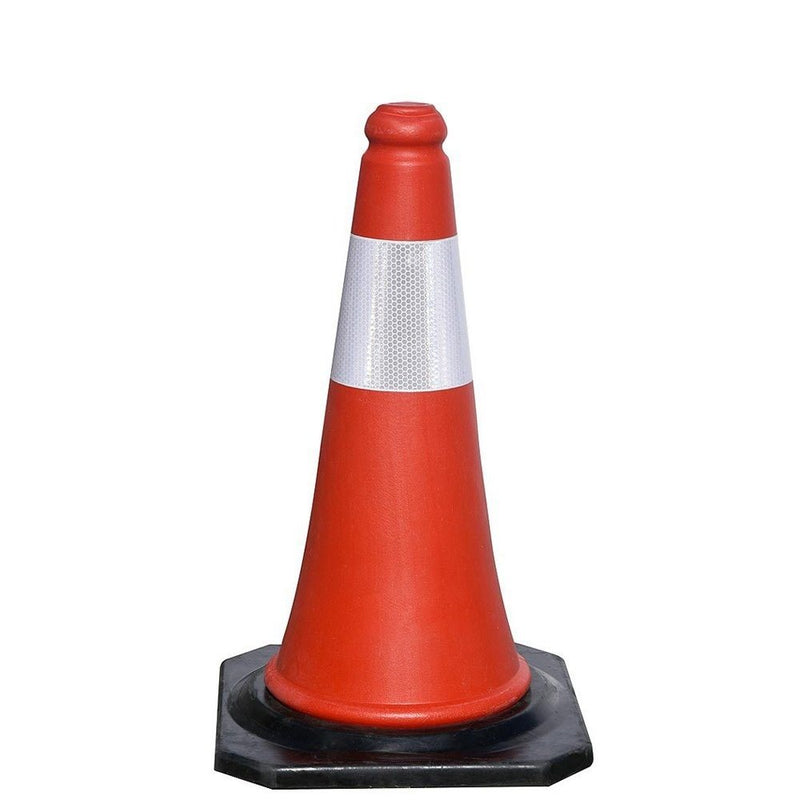 50cm Black Base Traffic Cone