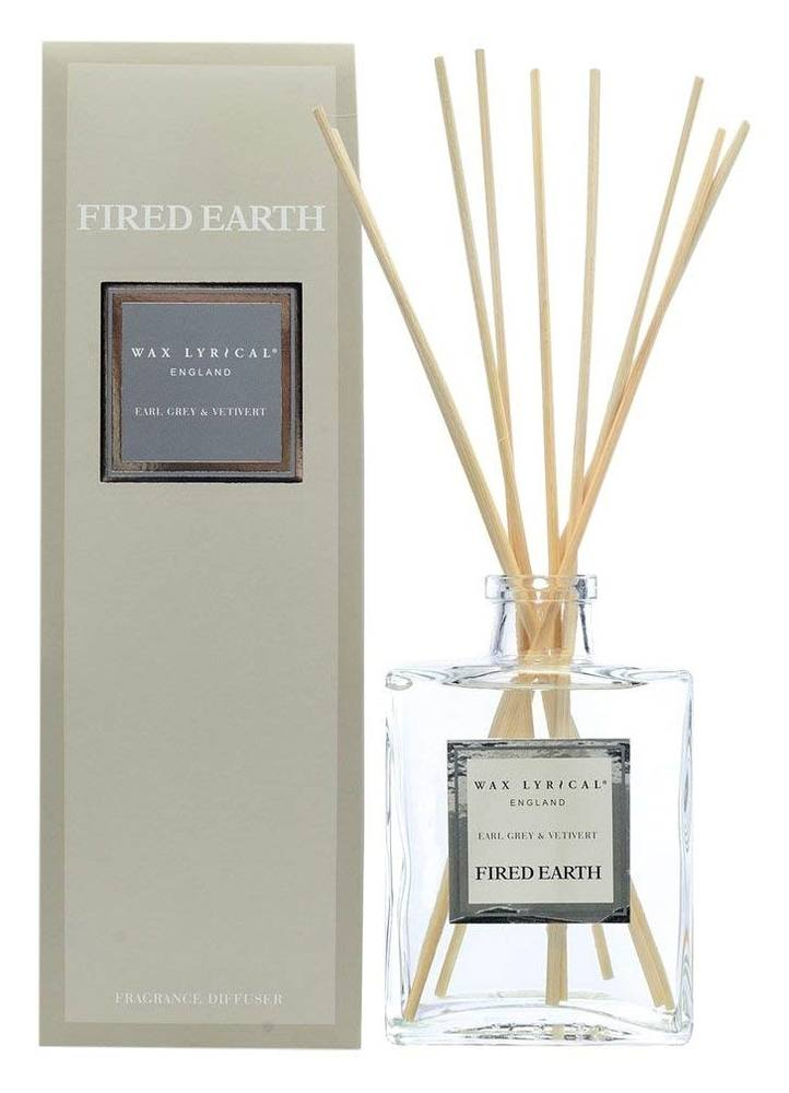 Fired Earth Reed Diffuser, Earl Grey and Vetivert