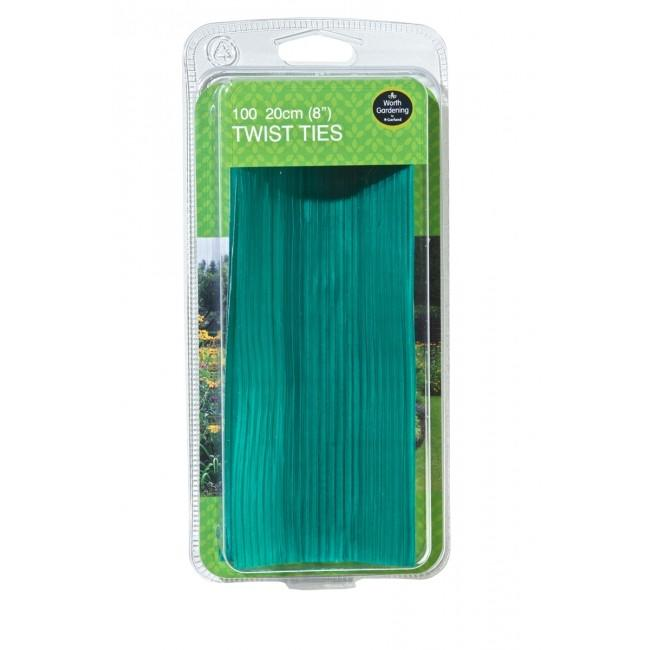 20cm Twist Ties for Gardening - 100 PACK