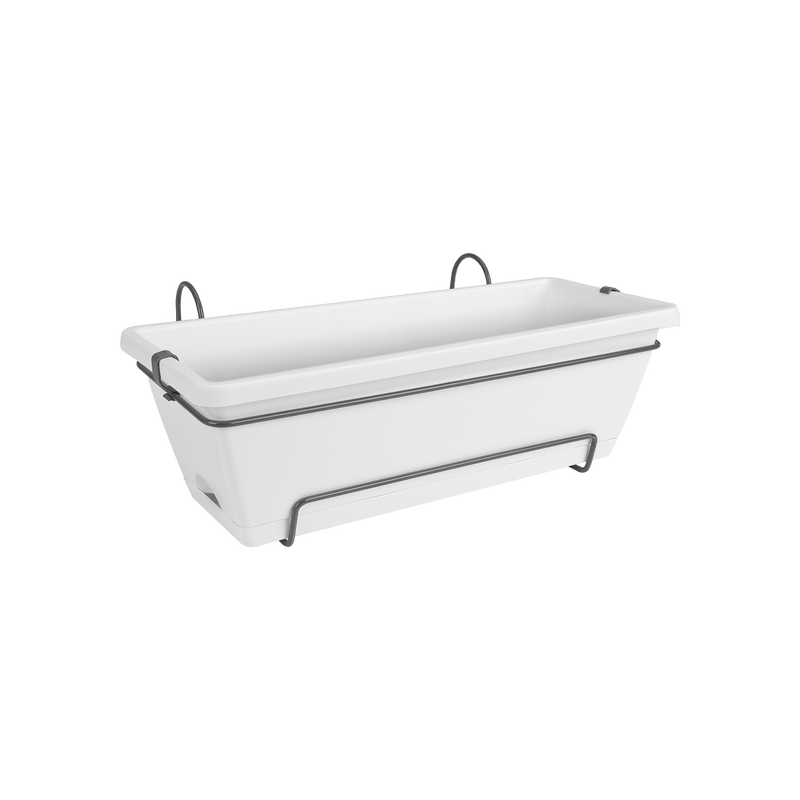Barcelona Allin1 50cm Balcony Pot - White