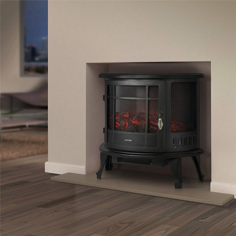 1.8kW Log Effect Stove with Flame Adjustment and Temperature Control