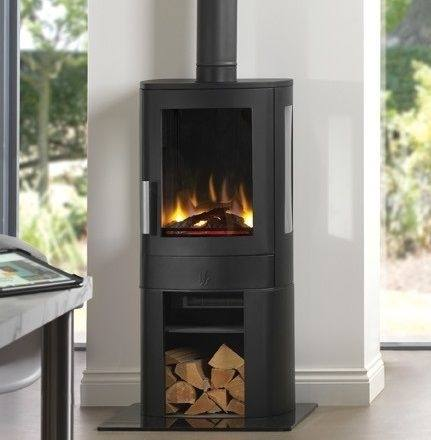 NEO3C 2KW Electric Stove With Log Store