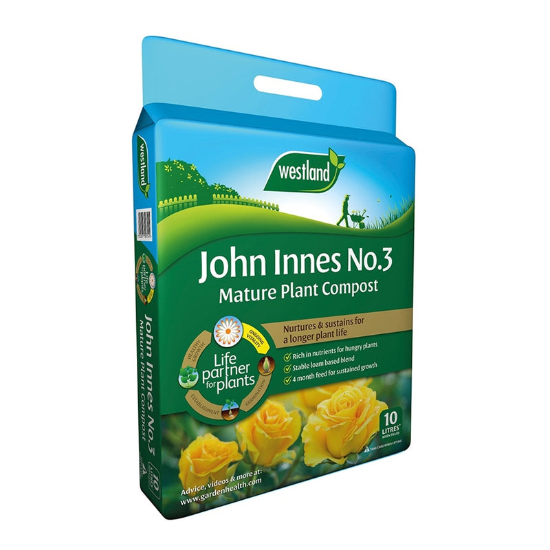 John Innes No 3 Mature Plant Compost with 4 month feed - 10L