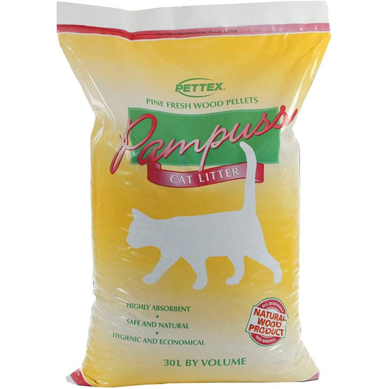 Pampuss Wood Pellet Cat Litter - 30L