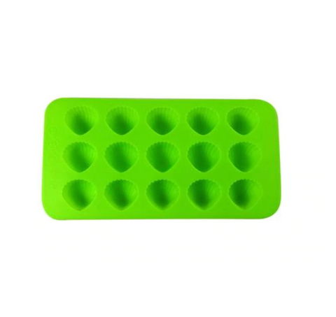 Dope Molds Silicone Gummy Mold Green Sea Shells