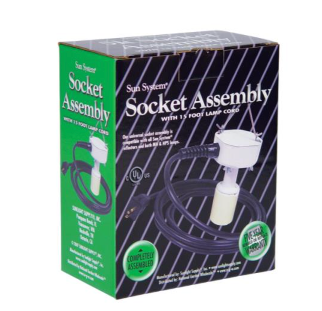 "Socket Assembly with 15"" Lamp Cord"