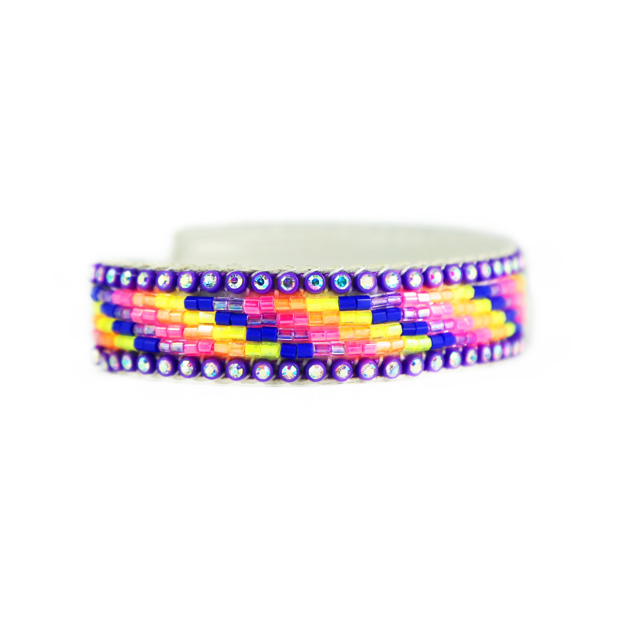 Beaded Crystal Cuff Bracelet