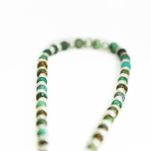 Turquoise & Pearl Graduated Necklace