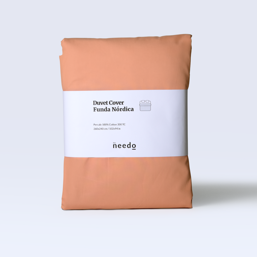 Duvet cover percale 300 TC - Terra