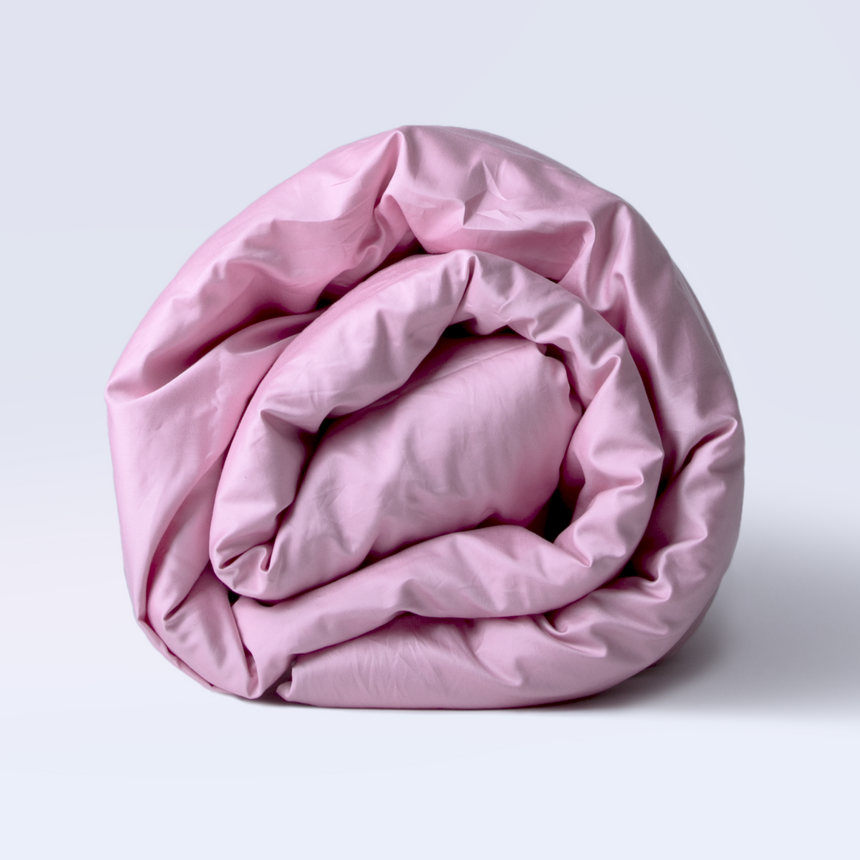 Duvet cover sateen 500 TC - Washed pink