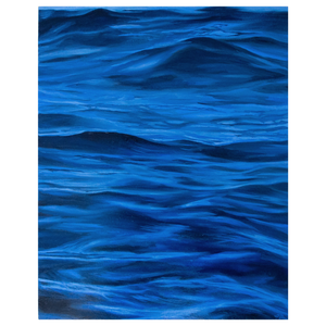 'Ultramarine' - oil painting on wooden panel