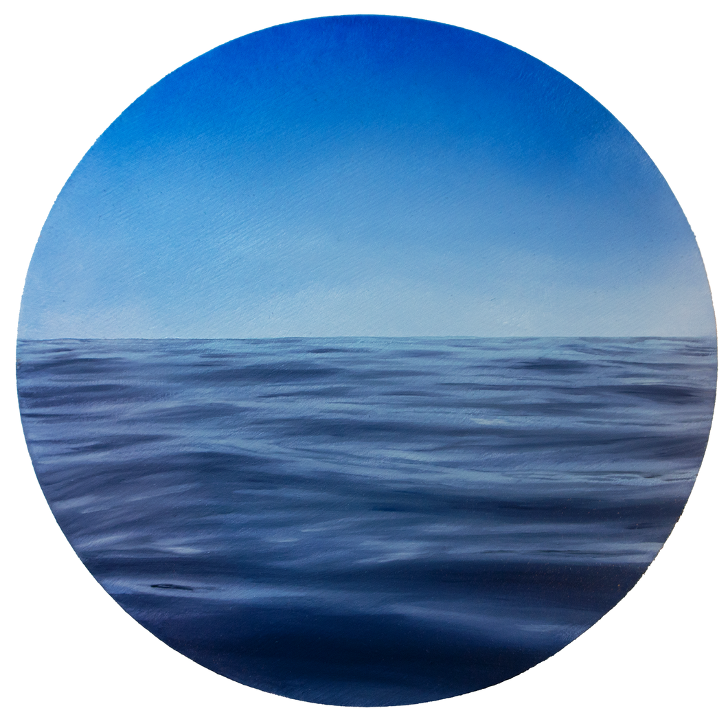 'Porthole' - oil painting on wooden panel