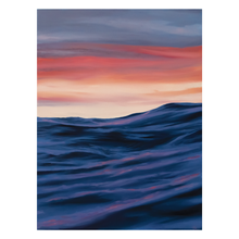 Load image into Gallery viewer, 'Stormy Sunset' - oil painting on wooden panel