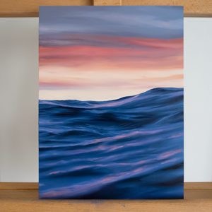 'Stormy Sunset' - oil painting on wooden panel