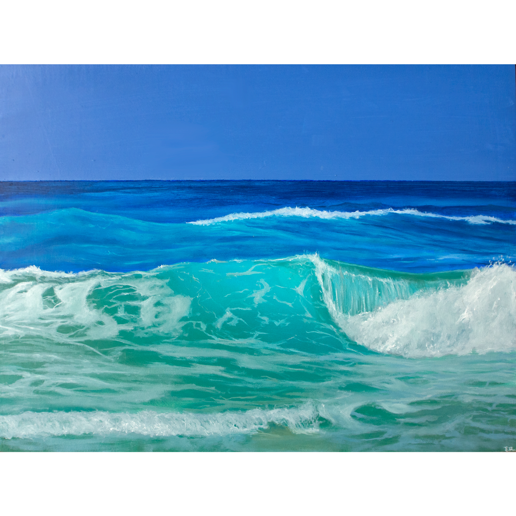 'Atlantic' - oil painting on wooden panel