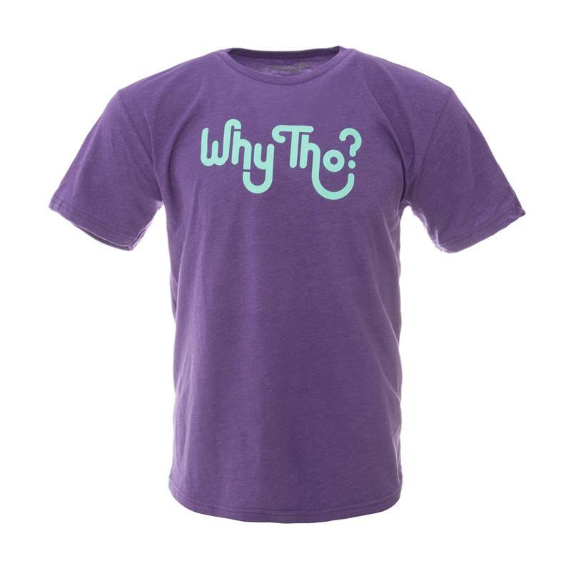 Why Tho? Purple Tee