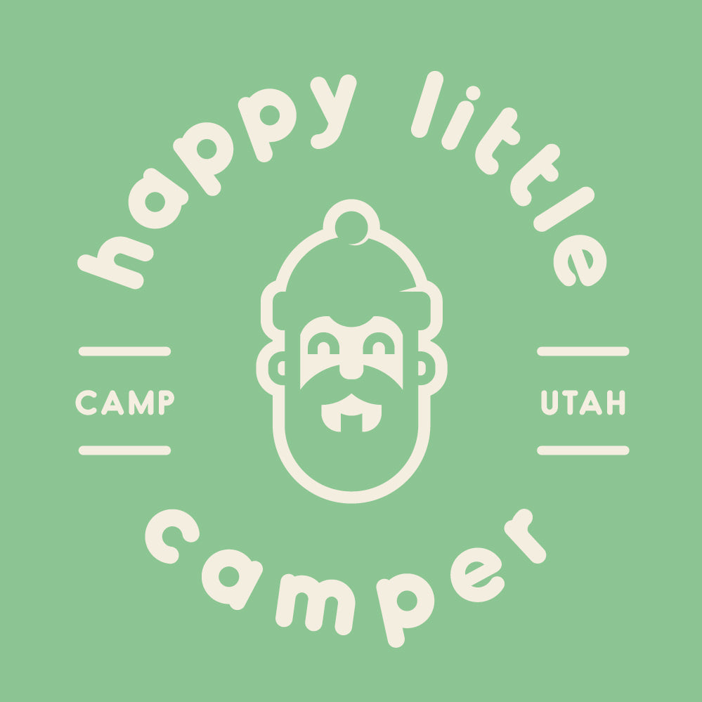 Happy Camper Green Tee