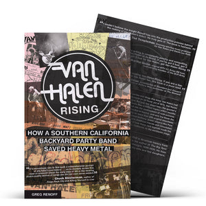 Van Halen Rising book PERSONALIZED AND SIGNED BY Greg Renoff