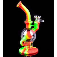 "10"" Silicone and Glass Water Pipe"