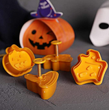 4pcs Halloween Cookie Cutter
