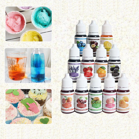 12 Colors Edible Pigment Set