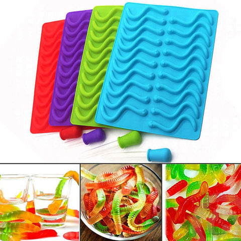 Gummy Candy Worms Mold