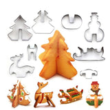 8pcs Christmas Cookie Cutters