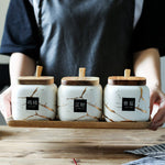Ceramic Condiment Storage Jar