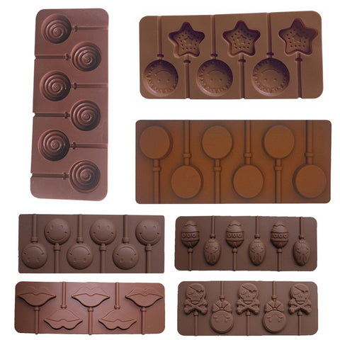 Silicone Chocolate Lollipop Mold