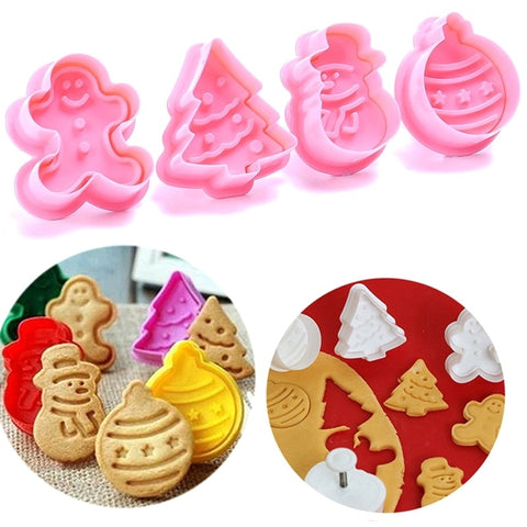 4pcs/set Cookie Stamp
