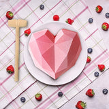 1 pc Heart Cake Mold with  Wooden Hammers