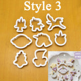 8Pcs/Set Unicorn Cookie Cutter