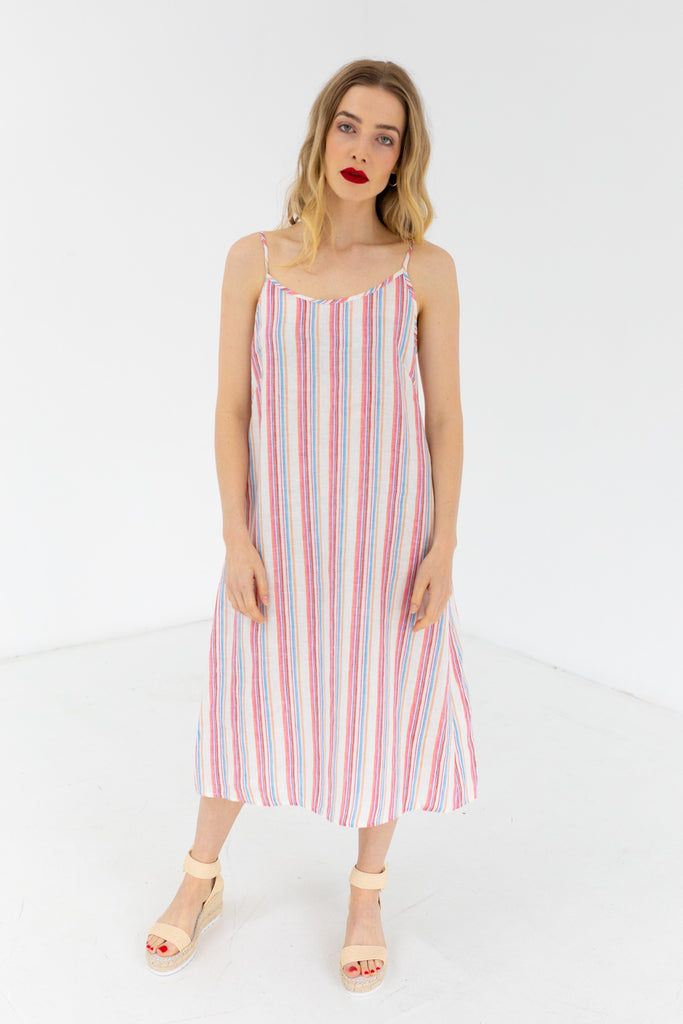 Sunseeker Slip Dress Stripe