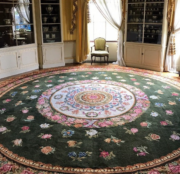 David Bamford carpet rug Goodwood House bespoke weaving