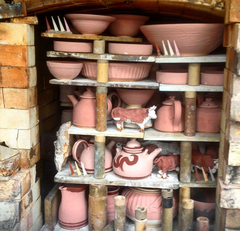 Kiln wood fired Malcolm Turner ceramics