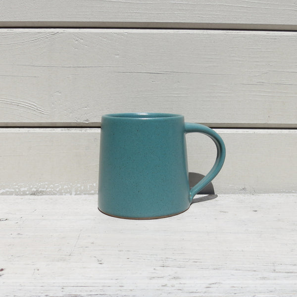 Fair Trade Handmade Glazed Stoneware Conical Mug in Teal