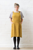 Apron dress - Ochre  linen