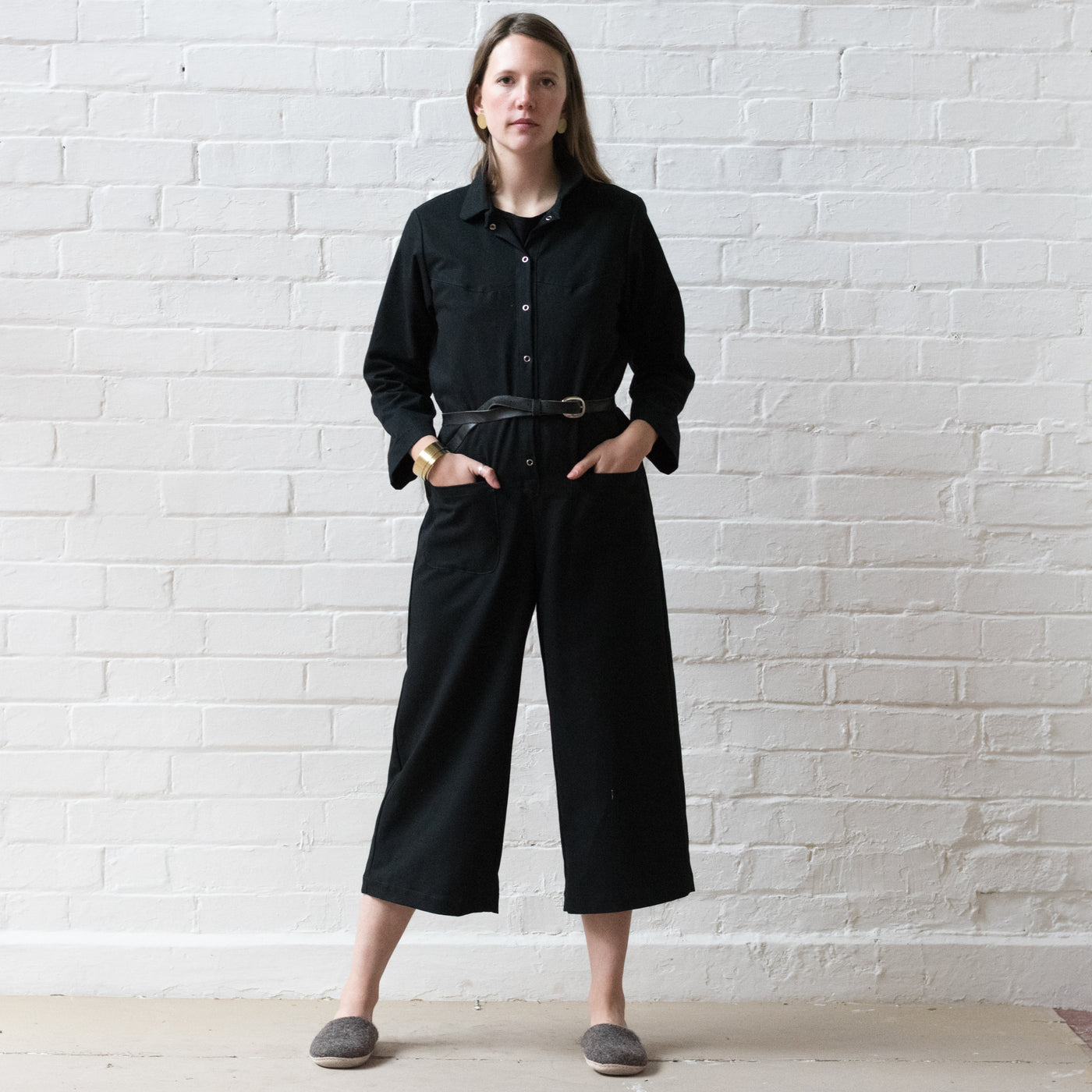 Jumpsuit - Black twill