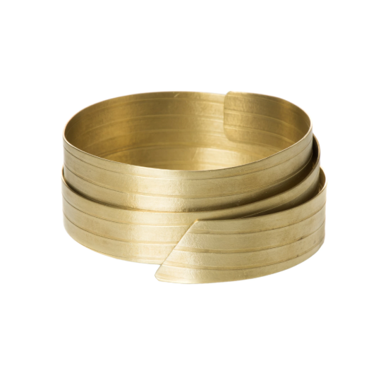 Alexandra striped brass bangle